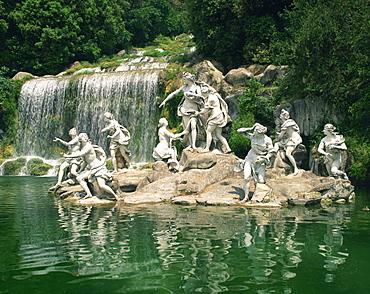 The Cascade, Caserta la Reggia (Regia di Caserta), UNESCO World Heritage Site, in Campania, Italy, Europe