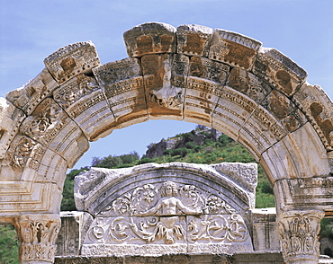 Temple of Hadrian, Ephesus, Anatolia, Turkey, Asia Minor, Eurasia