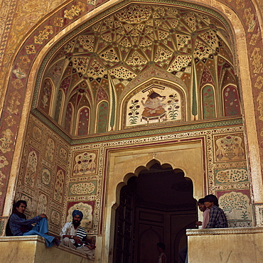 Ganesh Pol Gate, Amber Palace, Jaipur, Rajasthan state, India, Asia