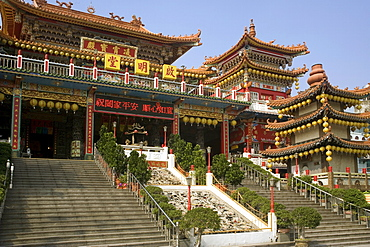 Chi-Ming Tang temple, Lotus pond, Kaohsiung, Taiwan, Asia