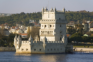 Tower of Belem, UNESCO World Heritage Site, and River Tagus, Belem, Lisbon, Portugal, Europe