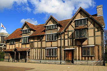 Shakespeare's birthplace, Stratford-upon-Avon, Warwickshire, England, United Kingdom, Europe