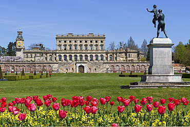 Cliveden House from parterre, Buckinghamshire, England, United Kingdom, Europe