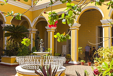 Courtyard of Cantero Palace, Trinidad, UNESCO World Heritage Site, Cuba, West Indies, Caribbean, Central America