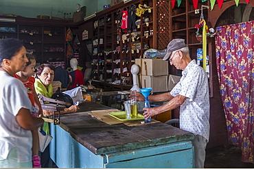 Government ration shop, Sancti Spiritus, Cuba, West Indies, Caribbean, Central America