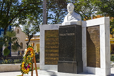 Memorial to Perucho Figueredo, 1818-1870, composer of Cuban National Anthem, Bayamo, Cuba, West Indies, Caribbean, Central America