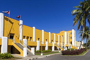 Former Moncado Barracks, scene of Castro's first guerrilla action, now the 26th July school, Santiago, Cuba, West Indies, Caribbean, Central America