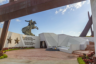 Eternal Flame Martyrs' Memorial and Antonio Maceo equestrian statue, Revolution Square, Santiago, Cuba, West Indies, Caribbean, Central America