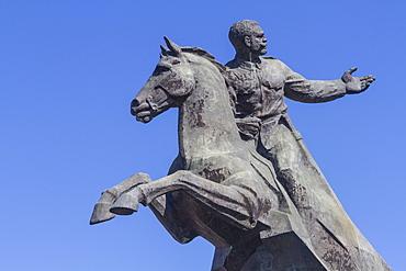 Antonio Maceo equestrian statue, Revolution Square, Santiago, Cuba, West Indies, Caribbean, Central America