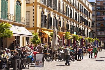 Restaurants in Plaza del la Merced, Malaga, Andalucia, Spain, Europe