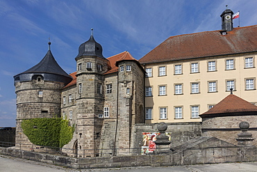 Rosenberg fotress, Kronach, Frankenwald, Bavaria, Germany, Europe