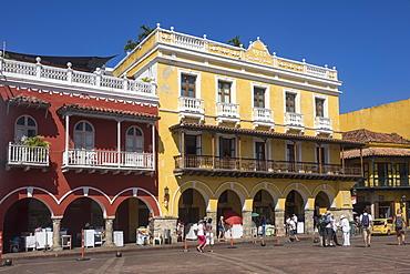 Plaza de los Coches, Cartagena, Colombia, South America