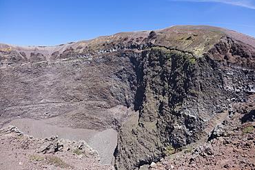 Crater of Vesuvius, Campania, Italy, Europe