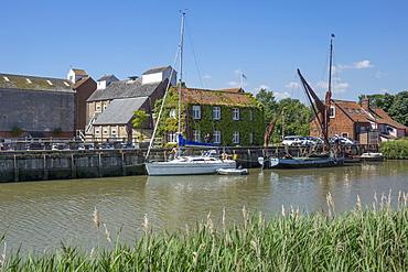 The Maltings and River Alde, Snape, near Aldeburgh, Suffolk, England, United Kingdom, Europe