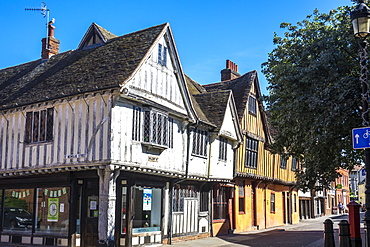 Old houses in Silent Street, Ipswich, Suffolk, England, United Kingdom, Europe