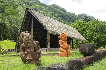 Cultural centre, Taipivai, Nuku Hiva, Marquesas islands, French Polynesia, South Pacific, Pacific