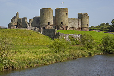 Rhuddlan Castle, Denbighshire, Wales, United Kingdom, Europe