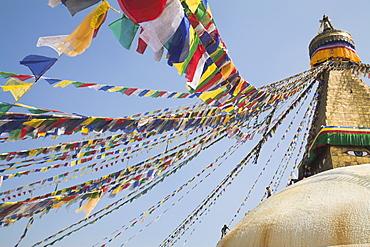 Lhosar (Tibetan and Sherpa New Year festival), Bodhnath Stupa, UNESCO World Heritage Site, Bagmati, Kathmandu, Nepal, Asia