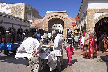 Archway entrance to medina, Essaouira, Morocco, North Africa, Africa