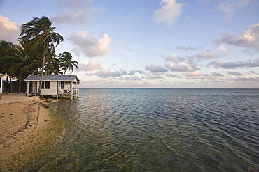 Beach cabana, Tobaco Caye, Belize, Central America