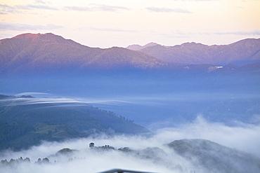 View from Tiger Hill of Kanchenjunga, Kangchendzonga range, Darjeeling, West Bengal, India, Asia