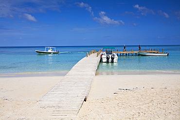 West Bay, Jetty, Roatan, Bay Islands, Honduras, Central America
