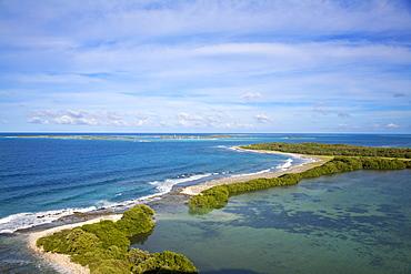 View of Gran Roque, Archipelago Los Roques National Park, Venezuela, South America