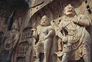 Longmen Buddhist caves, Luoyang, Hunan Province, China, Asia