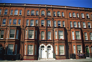 Terraced houses on Oakley Road, Chelsea, London, England, United Kingdom, Europe