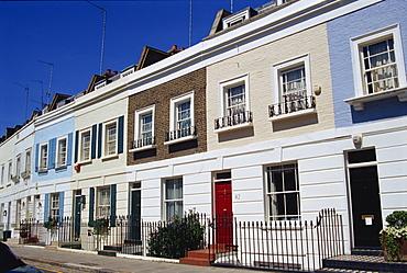 Terraced housing on Smith Terrace, Chelsea, London SW3, England, United Kingdom, Europe