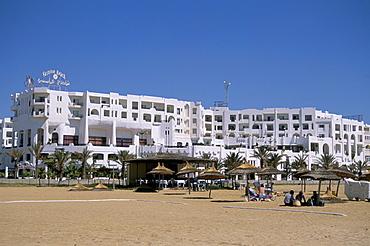 The beach, Yasmine Hammamet, Tunisia, North Africa, Africa