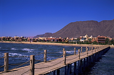 Beach resort at Taba Heights, Gulf of Aqaba, Red Sea, Sinai, Egypt, North Africa, Africa