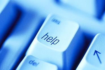 Help button on computer keyboard