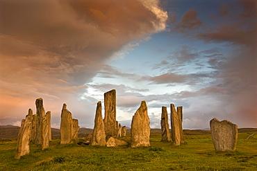 Standing Stones of Callanish at dawn, Callanish, near Carloway. Isle of Lewis, Scotland, United Kingdom, Europe