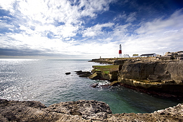 Portland Bill Lighthouse, Portland Bill, Isle of Portland, Dorset, England, United Kingdom, Europe