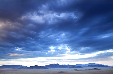 View at dusk over the magnificent landscape of the Namib Rand game reserve, Namib Naukluft Park, Namibia, Africa