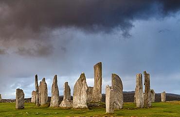 Standing Stones of Callanish, near Carloway, Isle of Lewis, Outer Hebrides, Scotland, United Kingdom, Europe