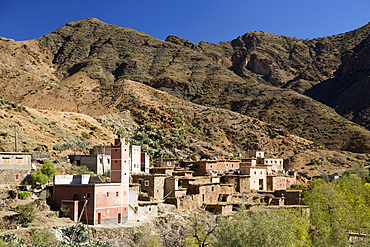 Traditional village in the foothills of the High Atlas Mountains, Morocco, North Africa, Africa