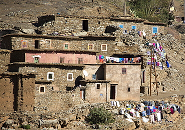 Traditional village in High Atlas Mountains, Morocco, North Africa, Africa