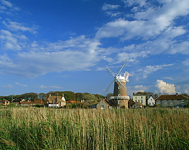 Windmill at Cley-next-the-Sea, Norfolk, England, United Kingdom, Europe