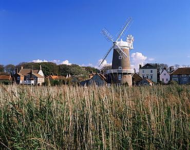 Windmill, Cley next the Sea, Norfolk, England, United Kingdom, Europe