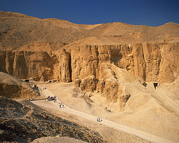 Valley of the Kings, Thebes, UNESCO World Heritage Site, Egypt, North Africa, Africa - 350-2423