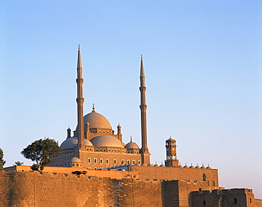 The Mohammed Ali Mosque at dawn, Cairo, Egypt, North Africa, Africa