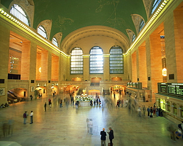 Interior of Grand Central Station, New York, United States of America, North America