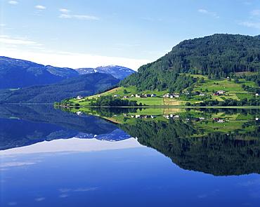 Lake Granvinvatnet, Voss, Norway, Scandinavia, Europe - 350-530