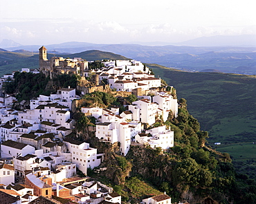 Hill top village of Casares, Andalucia, Spain, Europe