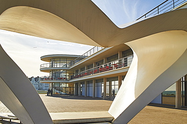 De La Warr Pavilion, an Art Deco building, Bexhill-on-Sea, East Sussex, England, United Kingdom, Europe