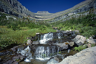Mountain stream beside Going to the Sun road, near Logan Pass, Glacier National Park, Montana, United States of America, North America - 365-1120