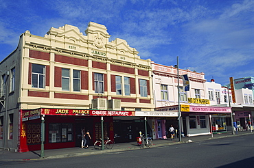 The J. Baird and Mid City Market Buildings on Trafalgar Street in the town of Nelson, South Island, New Zealand, Pacific - 365-1890