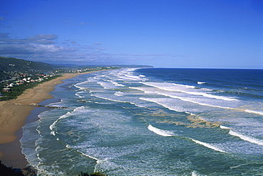 Waters of the Indian Ocean lapping wilderness shoreline, Garden Route, Cape Province, South Africa, Africa - 365-2840